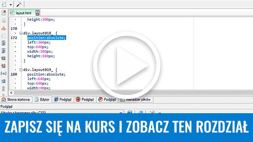 Projektowanie stron WWW. Cięcie grafiki i edycja kodu HTML. Bezpłatny kurs Photoshop.